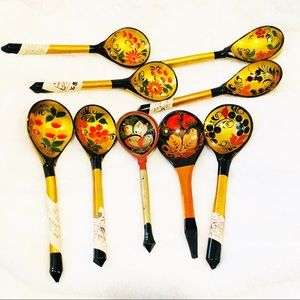 Other - Hand painted Japanese Soup spoons Set Brand New